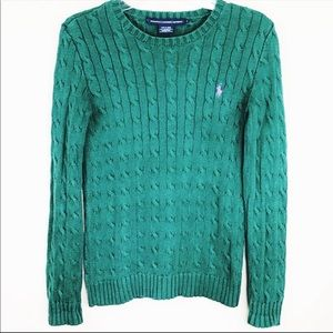 Ralph Lauren Classic Crew Neck Cotton Knit Sweater
